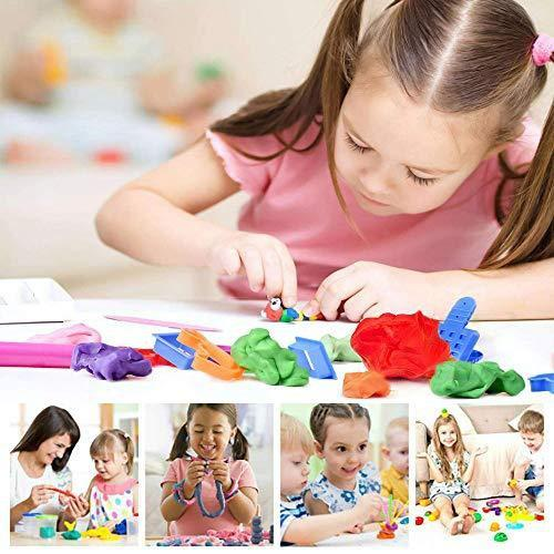 1917 Non-Toxic Creative 30 Dough Clay 5 Different Colors, (Pack of 6 Pcs) -