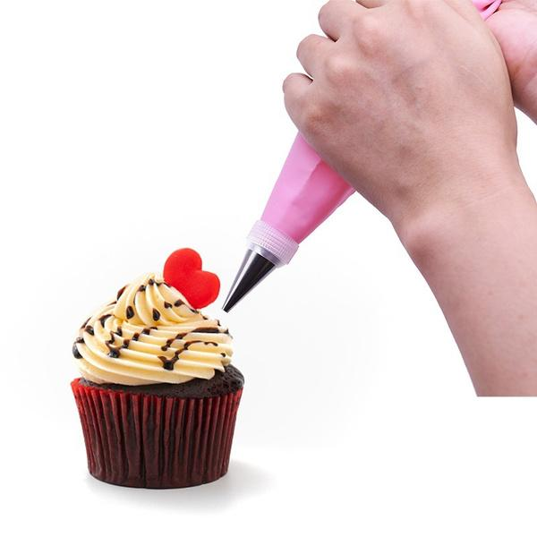 1153 Cake Decorating Nozzle with Piping Bag (Pack of 6) -