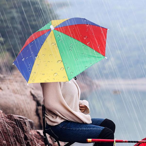 1445 Hands Free Umbrella Hat to Protect from Sun & Rain -