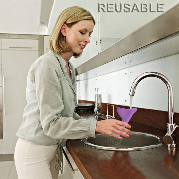 1307 Stand And Pee Reusable Portable Urinal Funnel For Women -