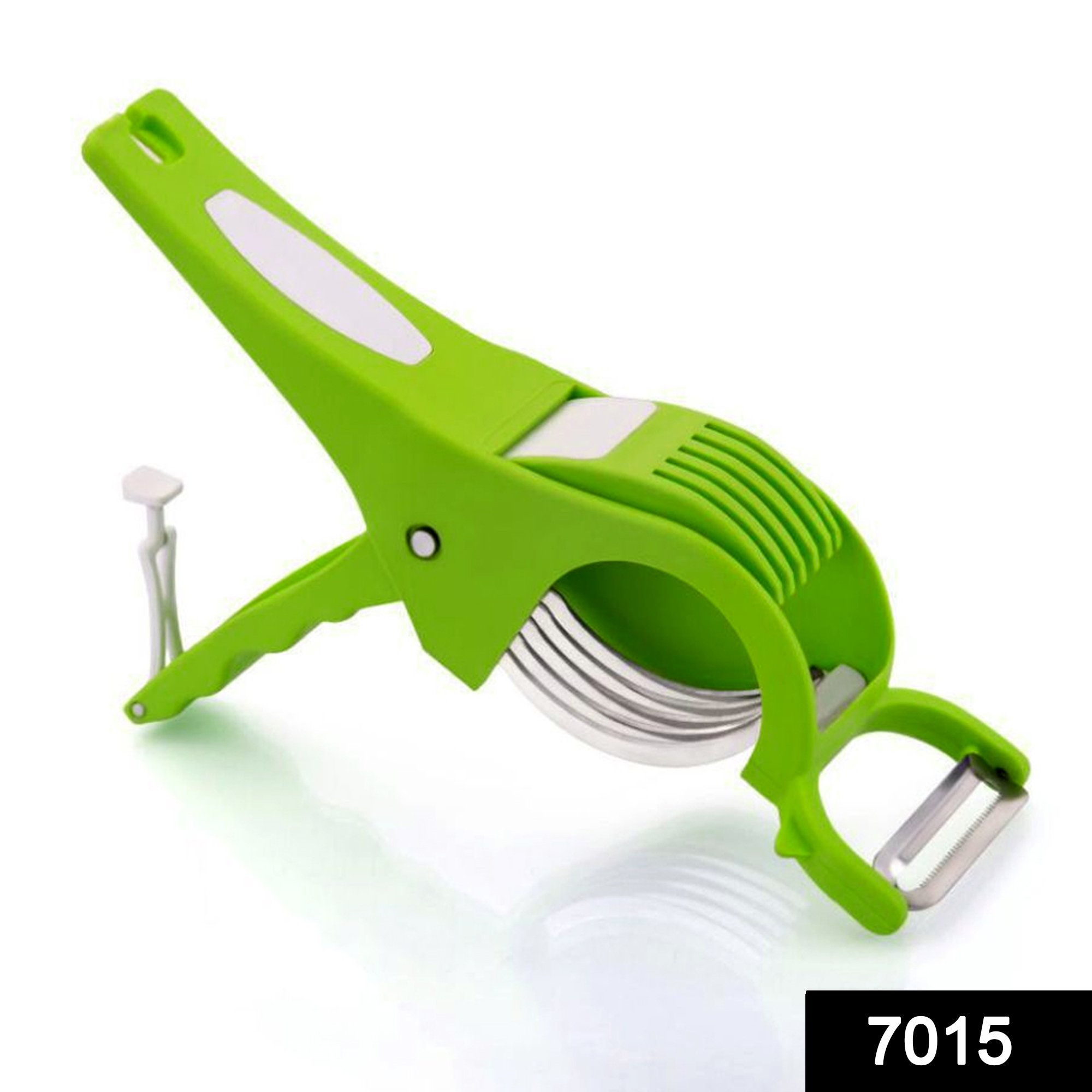 7015 2-in-1 Veg Cutter with Stainless Steel Blade (Multicolours) -