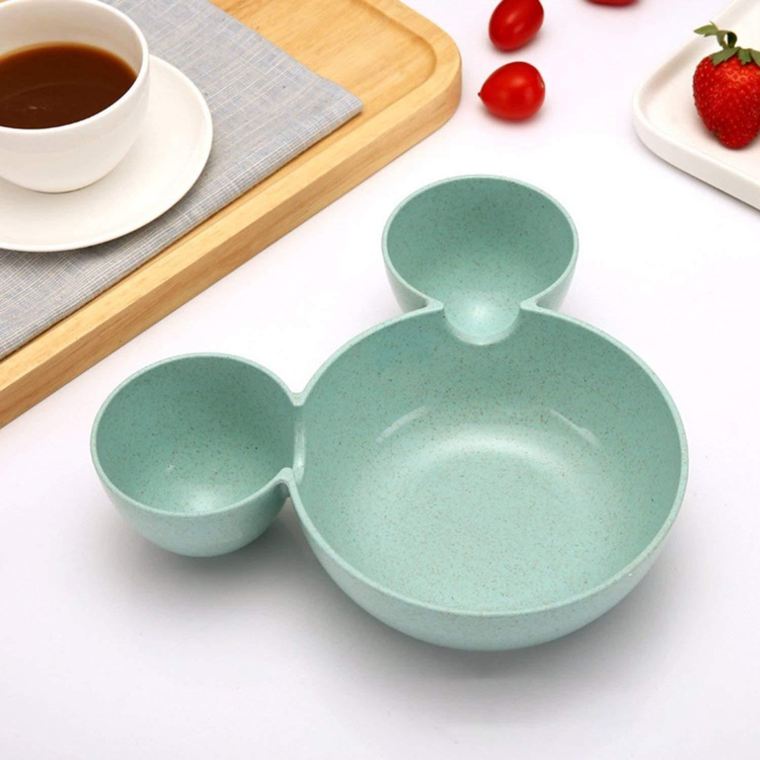 0843 Mickey Shaped Kids/Snack Serving Sectioned Plate -