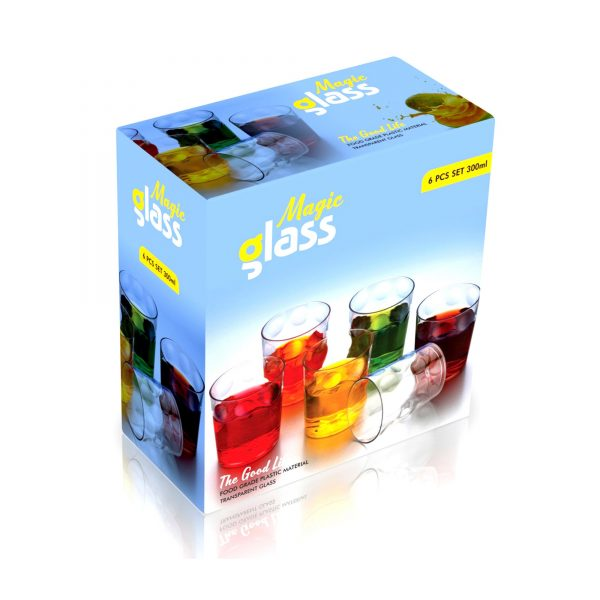 2340 Multi Purpose Unbreakable Drinking Glass (Set of 6 Pieces) (300ml) -