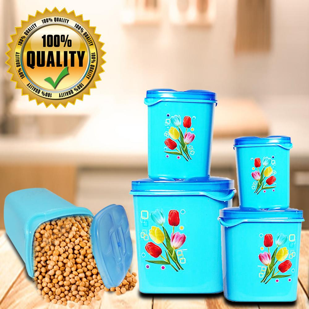 2239 Container Set For Kitchen Storage Airtight & Food Grade Plastic (Pack of 4) (3000ml,2000ml,1500ml,500ml) -