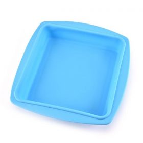 3317 Silicone Square Pan Cake Mould   Non-Stick makeing and  Bakeware Pan Cake for making different Homemade Item Reusable Food-Grade, 10x10 Inch (Pack of 1) -