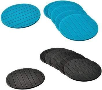 2127 Coasters Round Heat Resistant Pads Flexible for Home Kitchen Tools Tableware (3 pack) -