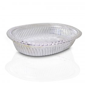 2090 Multipurpose Royal Design Oval Silver Gift Tray -