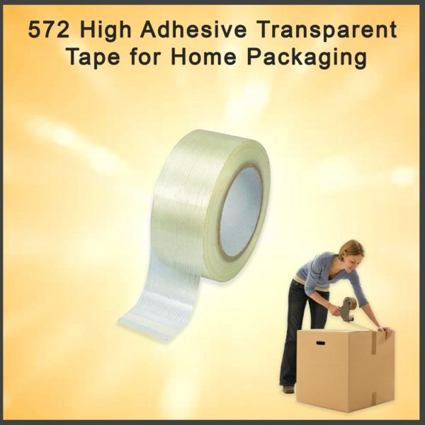0572 High Adhesive Transparent Tape for Home Packaging -