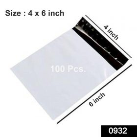 0932 Plain Polybags Pouches for Shipping Packing (100 Packs) -