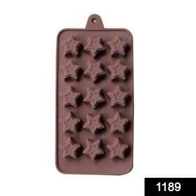 1189 Food Grade Non-Stick Reusable Silicone Star Shape 15 Cavity Chocolate Molds / Baking Trays -
