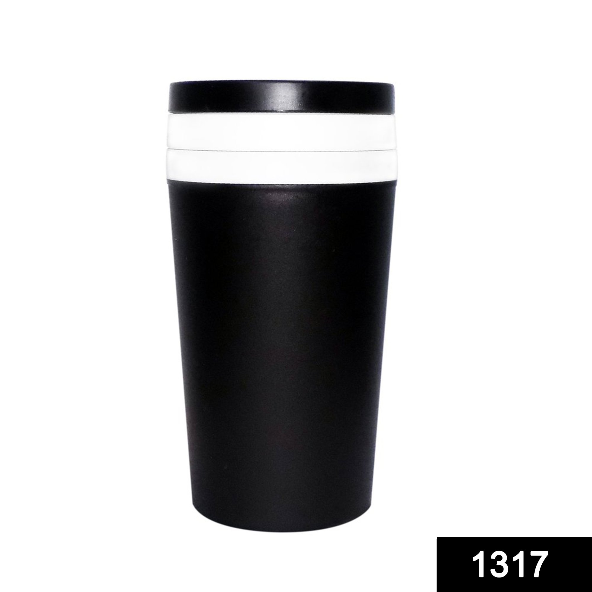 1317 3 in 1 Shaker Sipper Glass with Detachable Storage Container (300Ml) -
