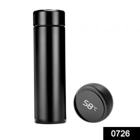 0726 Smart Vacuum Insulated Water Bottle with LED Temperature Display -