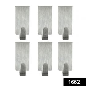 1662 Heavy Duty Self Adhesive Hook Sticky (Pack of 6) -