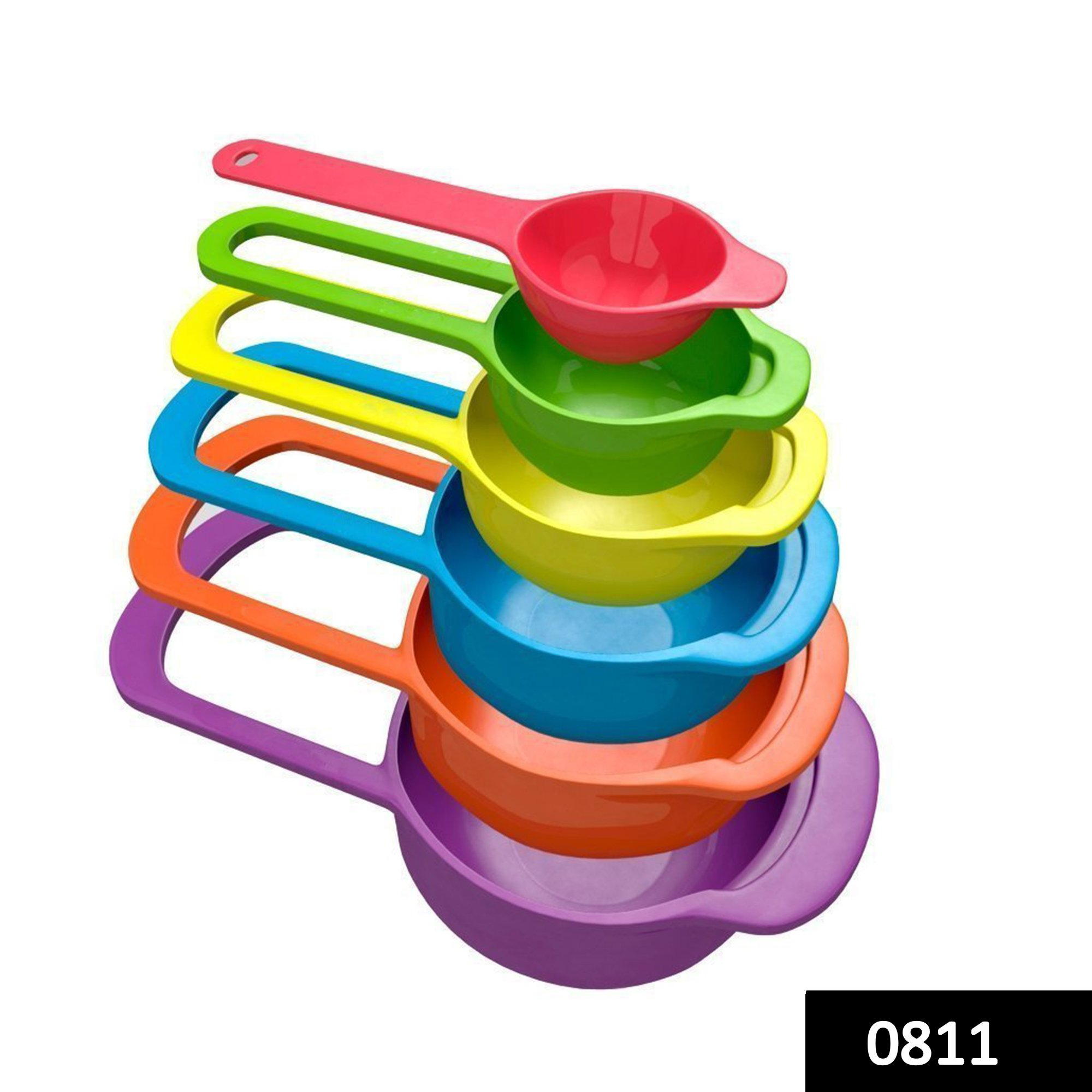 0811 Plastic Measuring Spoons for Kitchen (6 pack) -