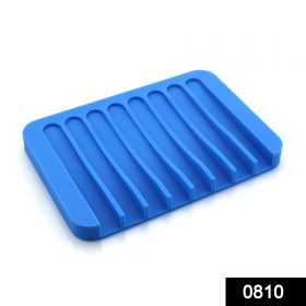 0810 Silicone Soap Holder Soap Dish Stand Saver Tray Case for Shower -