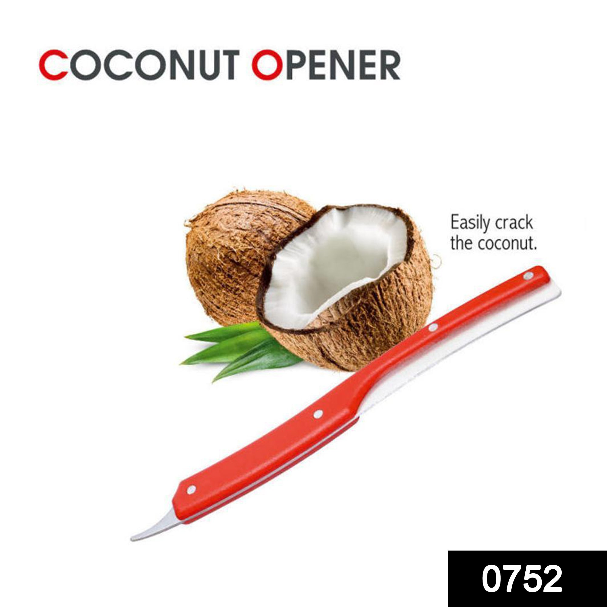 0752_Coconut Opener Tool Double-Ended Coconut Knife -