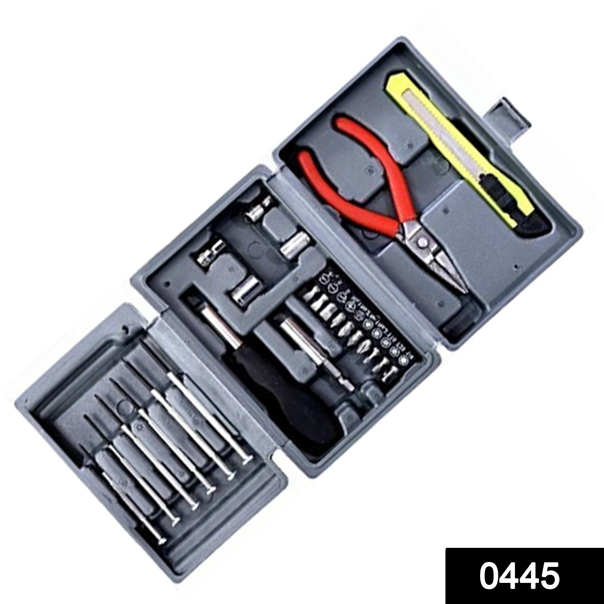 0445 Steel Screw Driver, Cutter and Pliers Set -