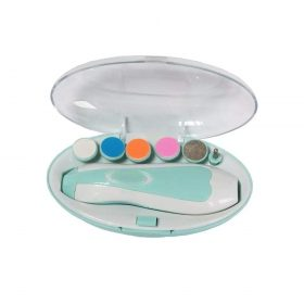 1223 Electric Baby Nail Trimmer with Grinding Heads for Newborn Infant and Toddler -