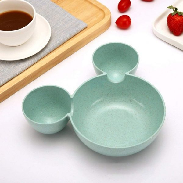 0863 Unbreakable Plastic Mickey Shaped Kids/Snack Serving Plate -