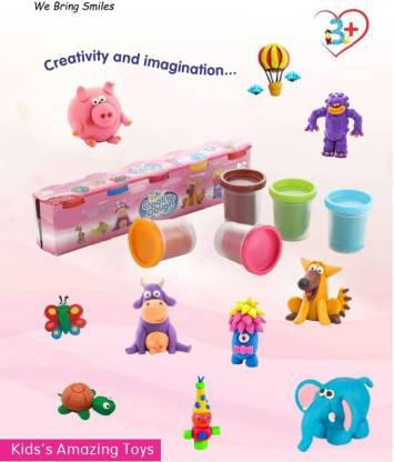 1915 Non-Toxic Creative 50 Dough Clay 5 Different Colors (Pack of 5 Pcs) -