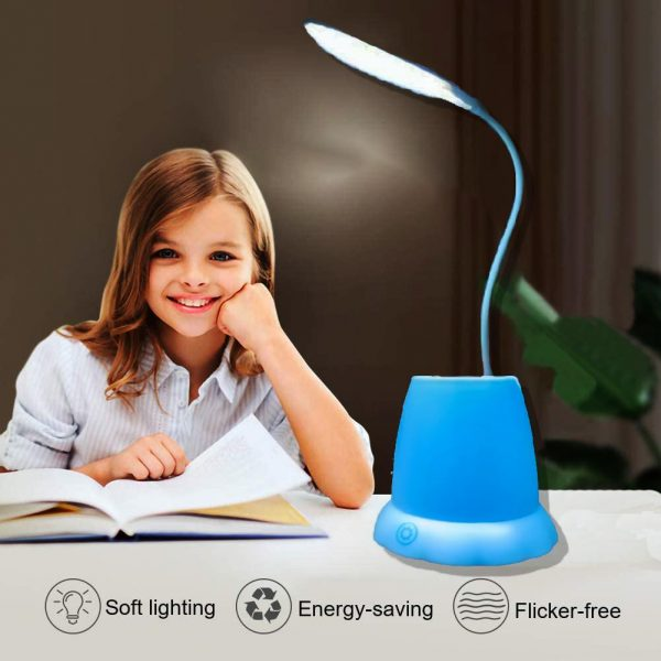 1256 Desk Lamp with Pen Holder Table Lamp with Pencil Stand for Home Office -