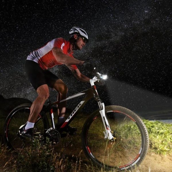 1562 Rechargeable Bicycle LED Bright Light with Horn Speaker -