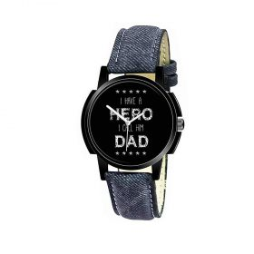 1812 Unique & Premium Analogue Watch I have a HERO I call him DAD Print Multicolour Dial Leather Strap (Watch 12) -