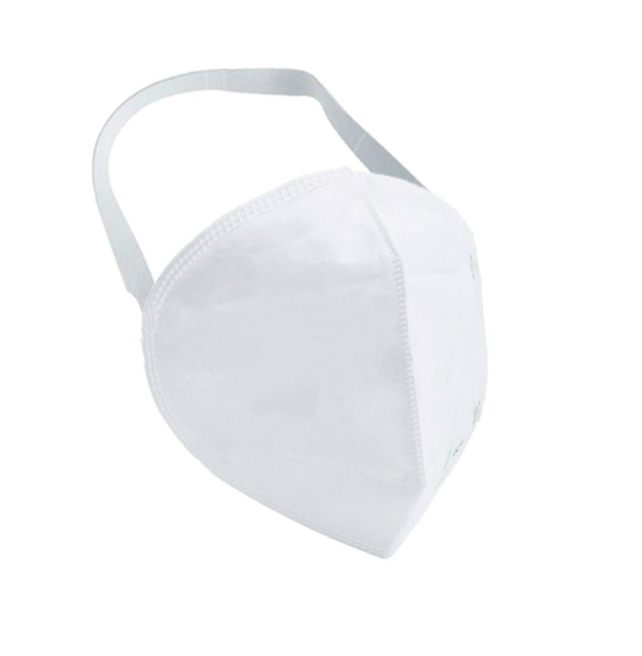 1278 Anti-Pollution Foldable Face Mask Classy White -