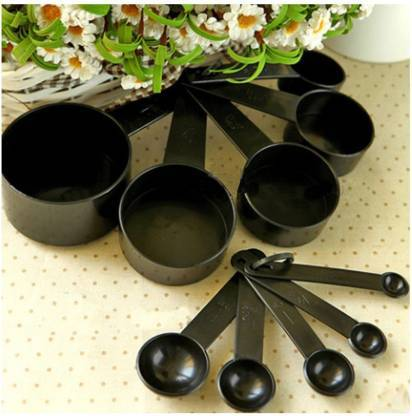 2190 Plastic Measuring Cups and Spoons Set with Box (8 pcs) -